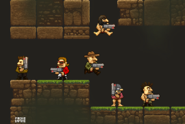 A bunch of randomly generated characters for Platformines